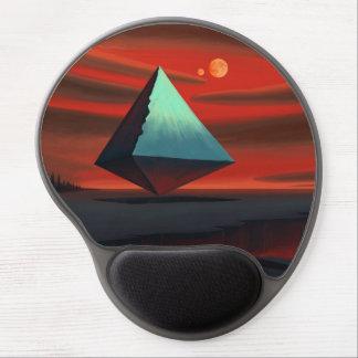 Pirámide de la luna alfombrilla gel