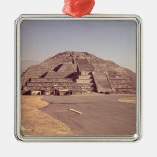 Pirámide de la luna, ANUNCIO construido c.100-350 Adorno Cuadrado Plateado