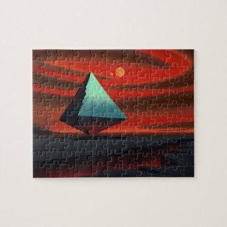 Pirámide de la luna rompecabeza con fotos