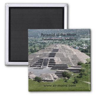 Pirámide de la luna, Teotihuacan, México Imán Cuadrado