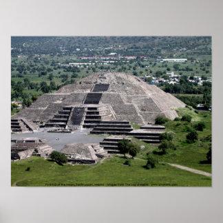 Pirámide de la luna Teotihuacan México Impresiones