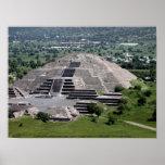 Pirámide de la luna, Teotihuacan, México Impresiones