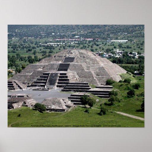 Pirámide de la luna, Teotihuacan, México Póster
