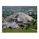 Pirámide de la luna, Teotihuacan, México Tarjeta Postal