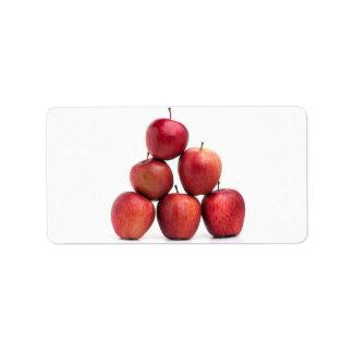 Pirámide de las manzanas red delicious etiqueta de dirección