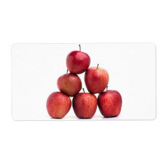 Pirámide de las manzanas red delicious etiqueta de envío