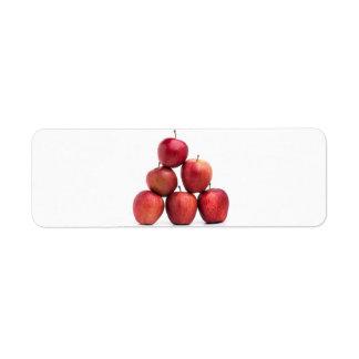 Pirámide de las manzanas red delicious etiqueta de remite