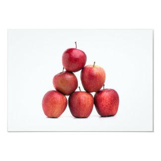"""Pirámide de las manzanas red delicious invitación 3.5"""" x 5"""""""