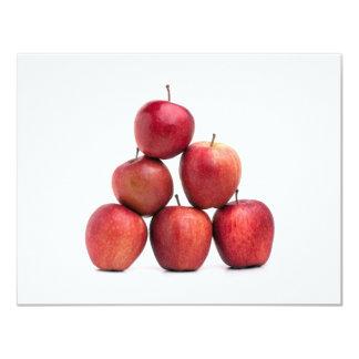 """Pirámide de las manzanas red delicious invitación 4.25"""" x 5.5"""""""