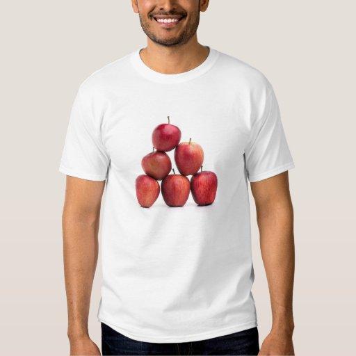 Pirámide de las manzanas red delicious remeras
