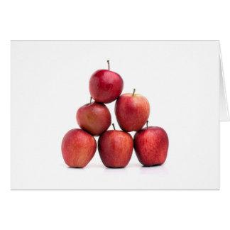 Pirámide de las manzanas red delicious tarjeta pequeña