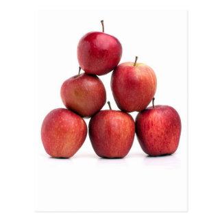 Pirámide de las manzanas red delicious tarjetas postales
