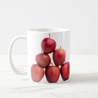 Pirámide de las manzanas red delicious taza de café