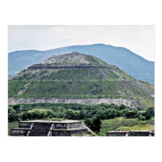 Pirámide de The Sun en las ruinas de Teotihuacan, Tarjeta Postal