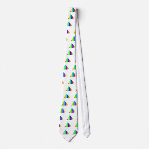 Pirámide del arco iris corbatas