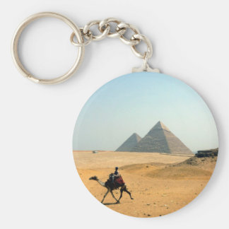 pirámide del camello llavero redondo tipo pin