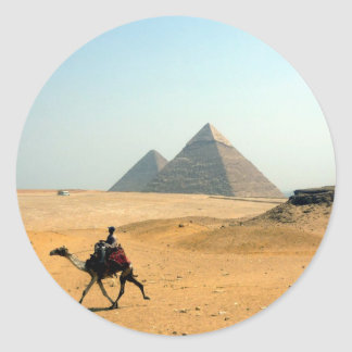 pirámide del camello pegatina redonda