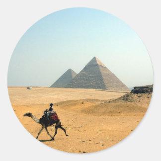 pirámide del camello pegatinas redondas