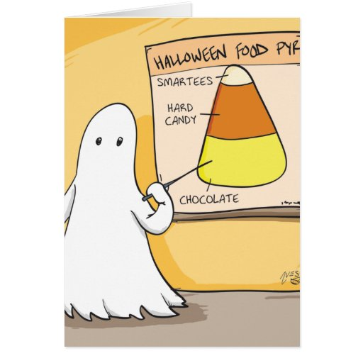 Pirámide del caramelo de Halloween Tarjeton