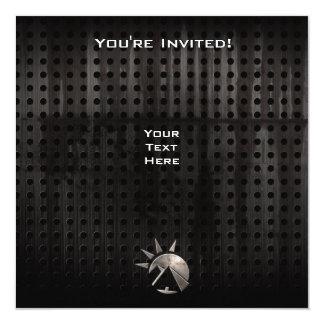 """Pirámide del egipcio del Grunge Invitación 5.25"""" X 5.25"""""""