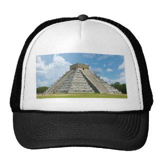 Pirámide del EL Castillo de Chichen Itza de Kukulc Gorras De Camionero