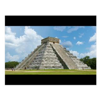 Pirámide del EL Castillo de Chichen Itza de Kukulc Tarjeta Postal