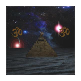 Pirámide del espacio de OM Lona Envuelta Para Galerías