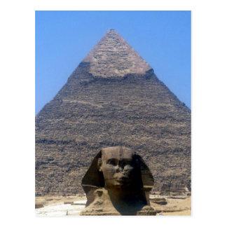 pirámide del khafre de la esfinge postal