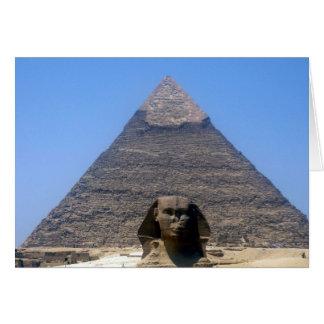 pirámide del khafre de la esfinge tarjeta de felicitación