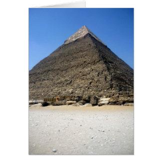 pirámide del khafre tarjeta de felicitación