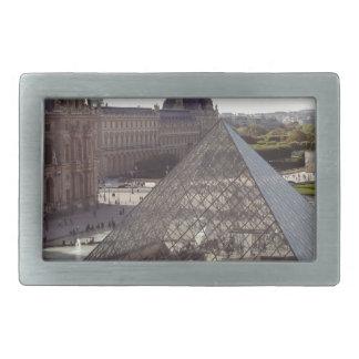Pirámide del Louvre Hebilla De Cinturón Rectangular