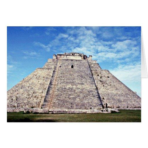 Pirámide del mago, ANUNCIO del estilo 500 de Puuc, Tarjeta De Felicitación