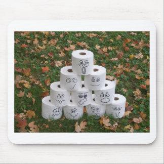 Pirámide del papel higiénico mousepads