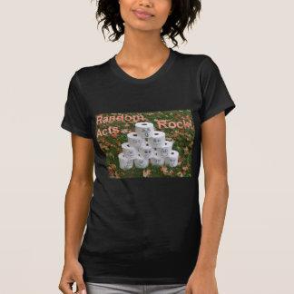 Pirámide del papel higiénico camisetas