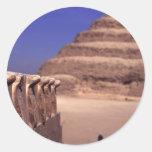 Pirámide del paso en Egipto Pegatina Redonda