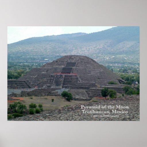 Pirámide del poster de la luna póster