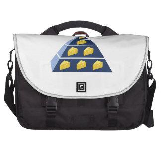Pirámide del queso bolsas para portatil