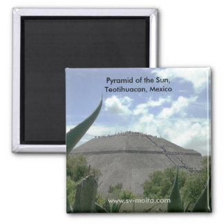 Pirámide del Sun, Teotihuacan, México Imán Cuadrado