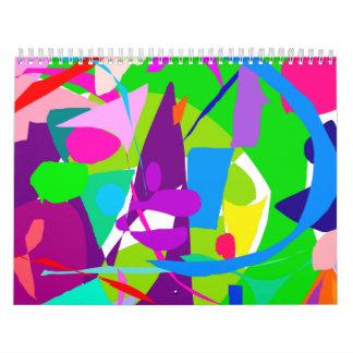 Pirámide diurna del número del negocio del trabajo calendarios de pared