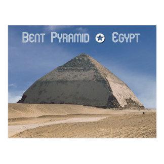 Pirámide doblada en Dahshur, Egipto Tarjeta Postal