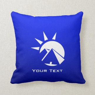 Pirámide egipcia azul almohada
