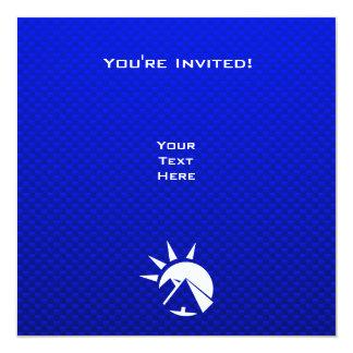 """Pirámide egipcia azul invitación 5.25"""" x 5.25"""""""