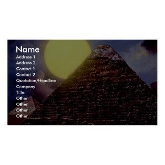 Pirámide egipcia con el sol en fondo tarjetas de visita