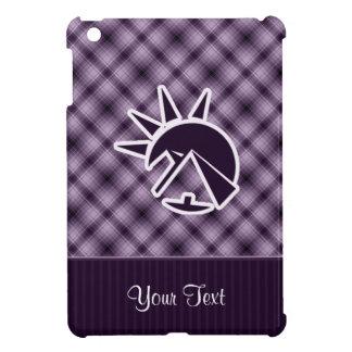 Pirámide egipcia púrpura iPad mini protectores