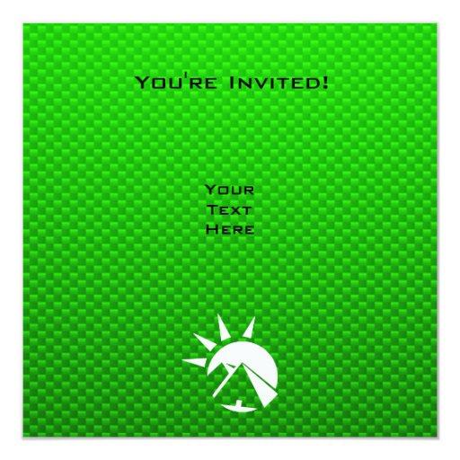 """Pirámide egipcia verde invitación 5.25"""" x 5.25"""""""