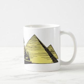 Pirámide Egipto de la esfinge Tazas De Café