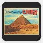 Pirámide El Cairo Egipto de Giza Pegatina Cuadrada