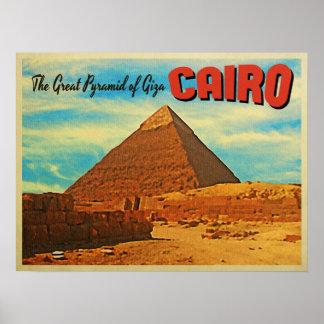 Pirámide El Cairo Egipto de Giza Póster