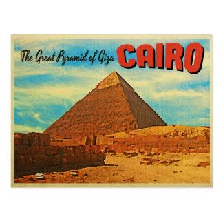 Pirámide El Cairo Egipto de Giza Tarjeta Postal