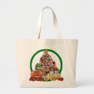 Pirámide extraña de Junk Food Bolsa Tela Grande